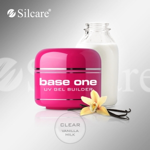Silcare Uv gel Base one CLEAR 15ml - mlieko a vanilka