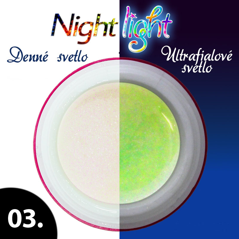 UV gél NIGHT LIGHT 5 ml - odtieň č.3
