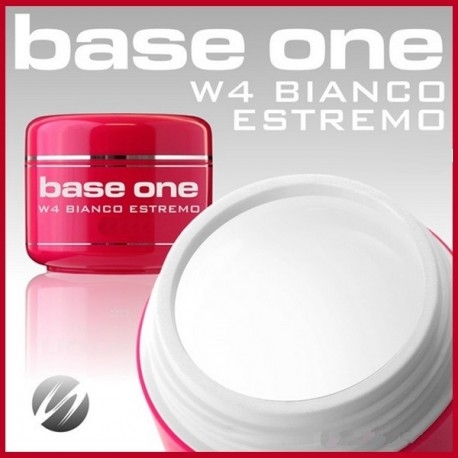 Silcare Base One W4 Bianco Estremo UV gél 5ml