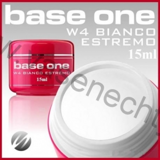 Silcare Base One W4 Bianco Estremo UV gél 15ml