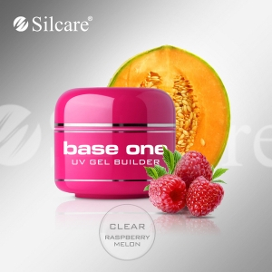 Silcare Uv gel Base one CLEAR 15ml - malina a melón